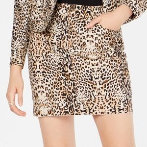 INC animal print mini skirt. Size 14.
